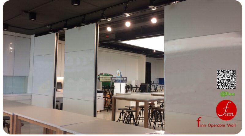 ผนังกันเสียงย้ายได้ คือ Finn Operable Wall สำหรับใช้กั้นห้องประชุม